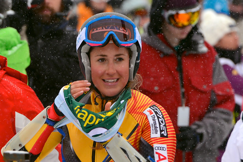 Marie-Pier Préfontaine after the super-G in Lake Louise.
