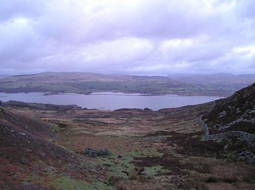 Trawsfynydd from Moel Y Gyrafolen