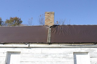 Front view of chimney