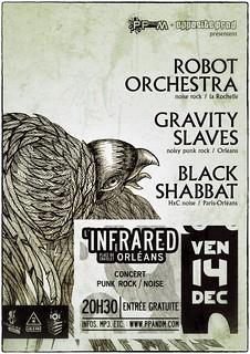 Robot Orchestra + Gravity Slaves + Black Shabbat