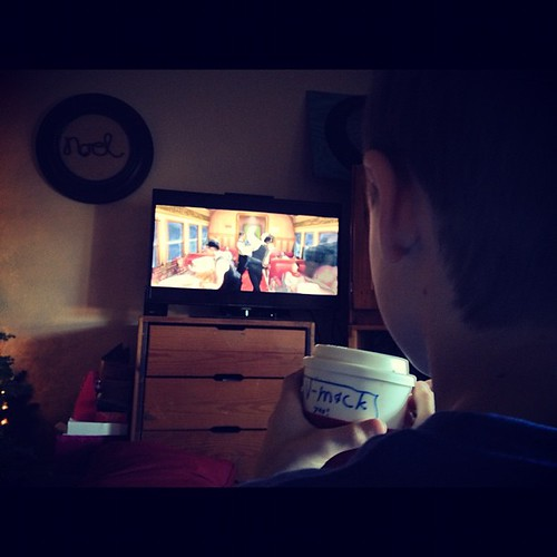 #hotchocolate while watching the #polarexpress