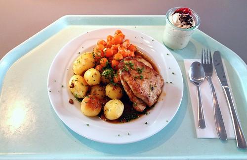 Schweinelendchen in Marsalasauce / Pork loins in marsala sauce