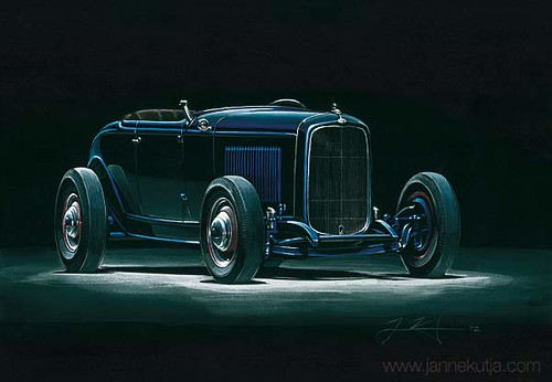 Ford_Roadster_1932_darkblue by Janne Kutja