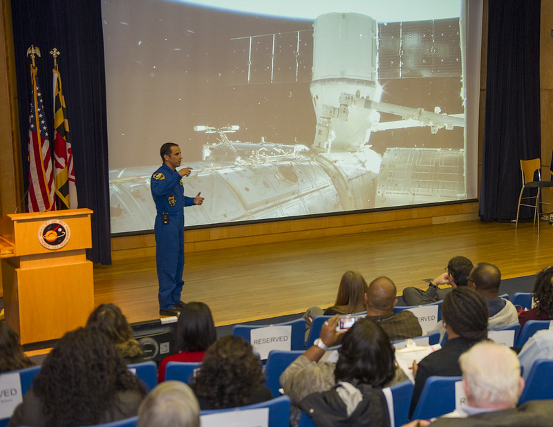 NASA Astronaut Joseph Acaba, Flight Engineer On Expeditions 31/32, Visits Goddard