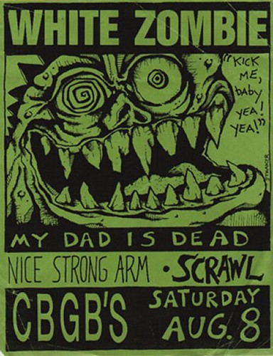 08/08/87 White Zombie/ My Dad Is Dead/ Nice Strong Arm/ Scrawl @ CBGB, NYC, NY