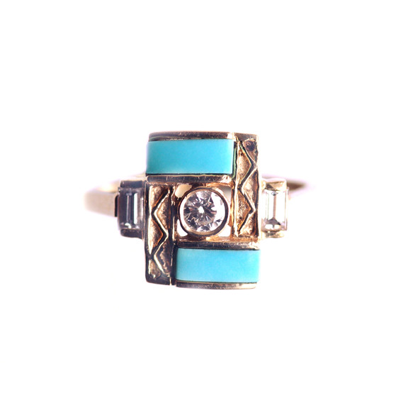 Zig-Zag-Turquoise-Ring-Front-View