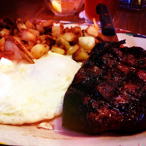 The steak and eggs were GOOD!