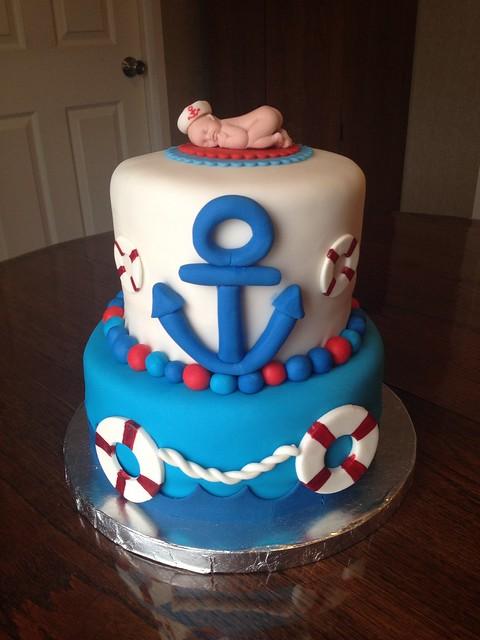 nautical themed baby shower cake flickr photo sharing