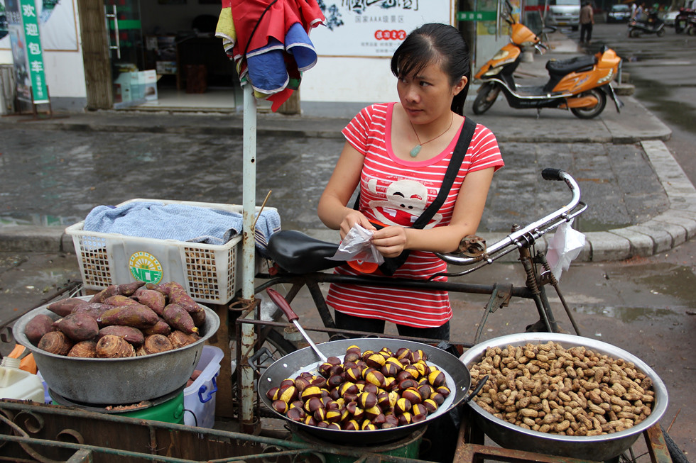 Chinese Chestnut Vendor