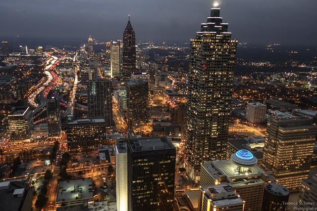 Atlanta @ night by Terence S. Jones, on Flickr