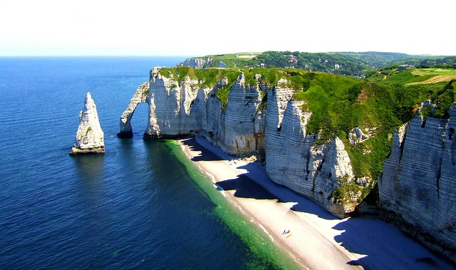 Cliffs at Etretat in France