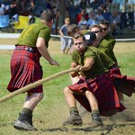Pulling for their Regiment at the Glengarry Highland Games