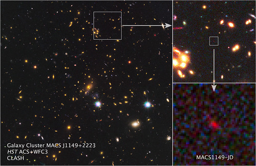 NASA Telescopes Spy Ultra-Distant Galaxy Amidst Cosmic 'Dark Ages'