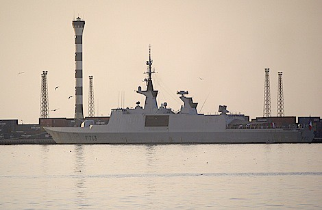 A French Stealth Frigate around occupied Libya. The puppet governmenbt in Tripoli that was installed by the U.S. and NATO is serving as a imperialist beach head. by Pan-African News Wire File Photos