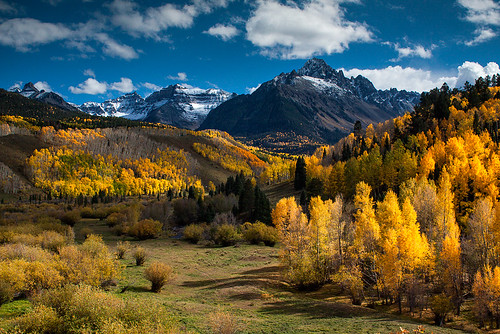 autumn mountains color fall nature clouds rural america forest landscape rockies outdoors scenery colorado day glow seasons unitedstates dramatic icon alpine aspens jagged telluride rockymountains wilderness peaks sublime drama rugged ridgway sanjuanmountains ouray dallasdivide sneffelsrange coloradogold aspenlined