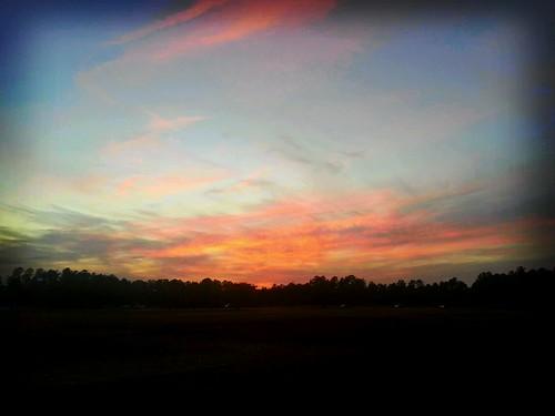 Sunset near the coast.