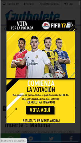 EA Sports FIFA17 - Interstitial - Mobile - Julio - LATAM, Argentina, Chile, Colombia, Perú