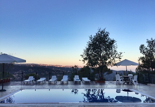 pool lebanon sunrise