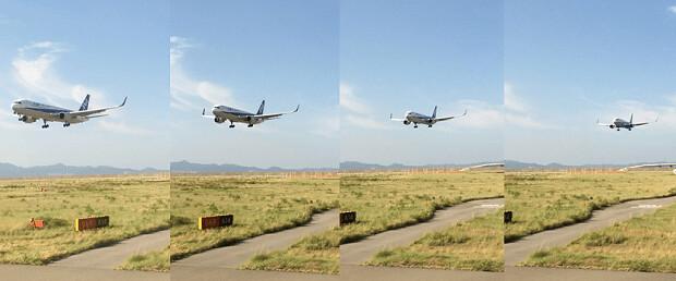 160912 滑走路から見る飛行機の着陸