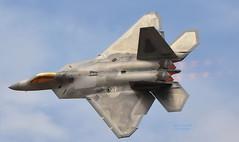 sukhoi su-27(0.0), shenyang j-11(0.0), boeing f/a-18e/f super hornet(0.0), sukhoi su-35bm(0.0), general dynamics f-16 fighting falcon(0.0), mcdonnell douglas f-15 eagle(0.0), mcdonnell douglas f-15e strike eagle(0.0), sukhoi su-30mkk(0.0), mikoyan mig-29(0.0), lockheed martin f-22 raptor(1.0), aviation(1.0), airplane(1.0), wing(1.0), vehicle(1.0), fighter aircraft(1.0), jet aircraft(1.0), air force(1.0),