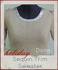 how to make a sequin neck sweater