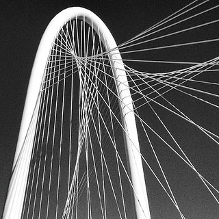 Margaret Hunt Hill Bridge (architect: Santiago Calatrava) -- Dallas, Texas, US