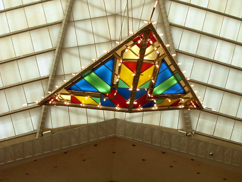 Stained Glass Light at the Frank Lloyd Wright Designed Beth Sholom Synagogue
