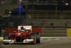 Alonso lining up Turn 18