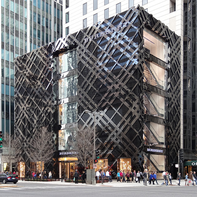 Chicago Magnificent Mile Burberry Store Flickr Photo