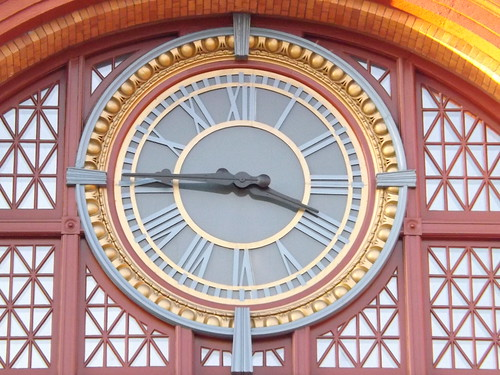 Clock at Union Station by I {heart} Rhody