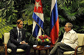 Republic of Cuba President Raul Castro meeting with Russian Federation Minister of Trade Denis Manturoz. The two countries have a long history of political and economic relations. by Pan-African News Wire File Photos