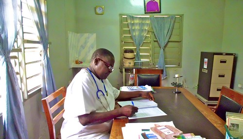 Esther Adzah SSL in her office at John's Health Centre
