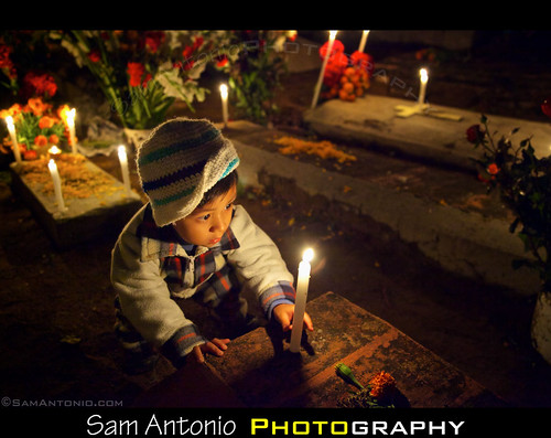 Day of the Dead in Xoxocotlan Cemetery, Oaxaca, Mexico by Sam Antonio Photography