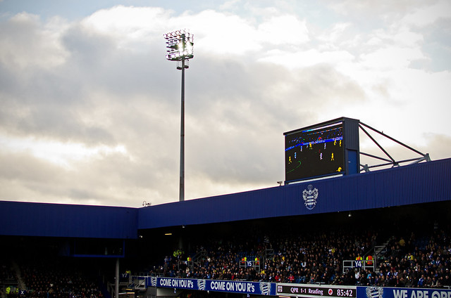 a english premier league match at loftus field, qpr versus reading