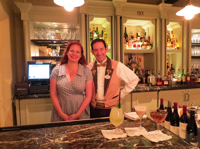 An Ice Ball & Bartending Demo at Disneyland's 1901 Lounge