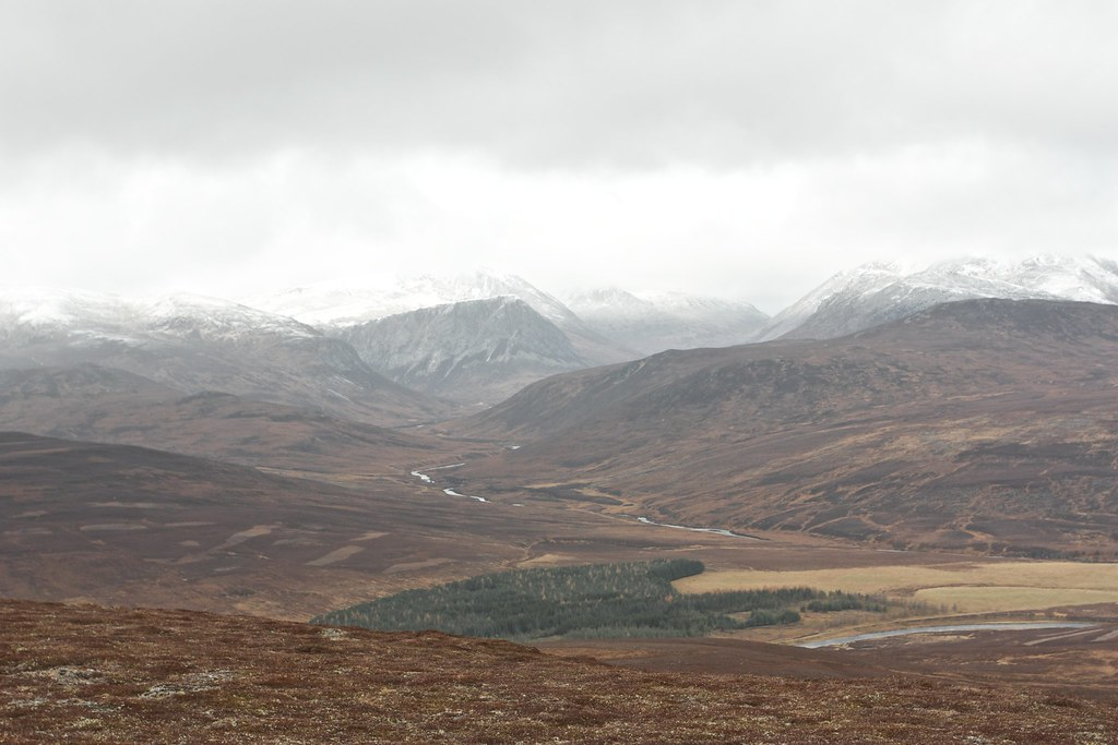 Looking towards the Lairig Ghru