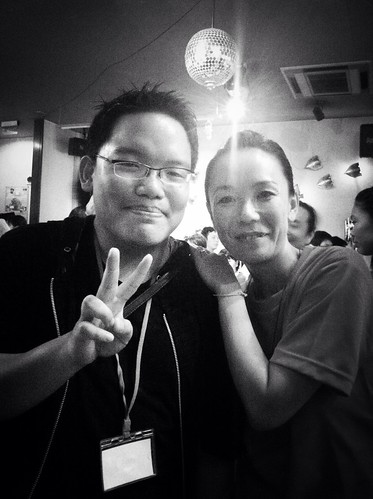 With director Naomi Kawase at the closing party of Nara Film Festival.