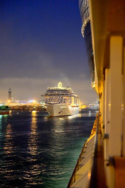 im Hafen von Barcelona