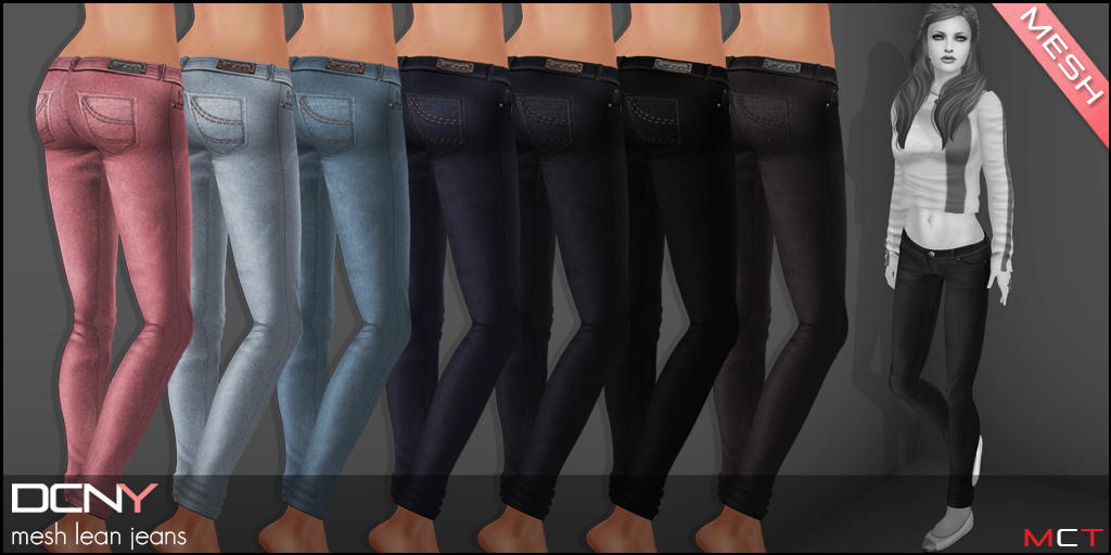 DCNY Mesh Lean Jeans Colors