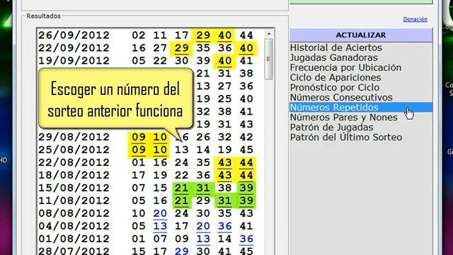 Generador de números basado en los resultados del BALOTO.