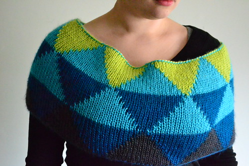 Honors Geometry Cowl - Shawl-like