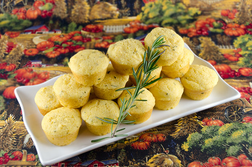 Savory Corn Muffins with Rosemary