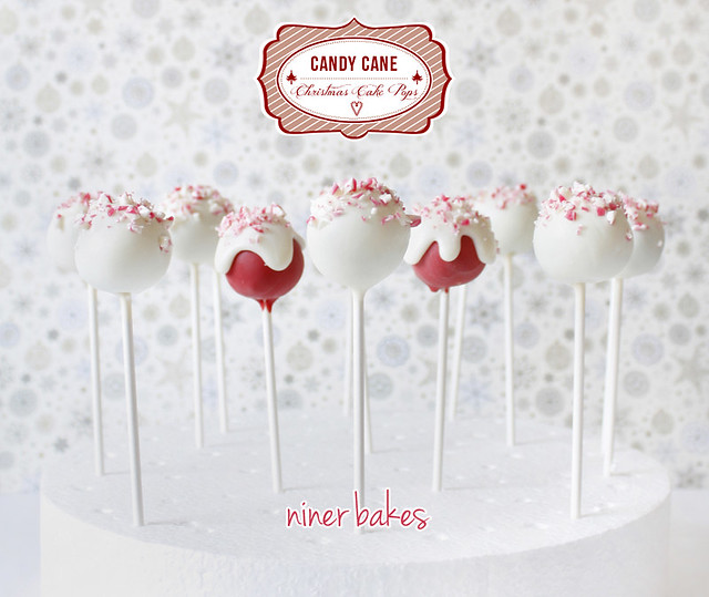 Candy Cane Cake Pops for Christmas