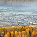 F_DSC0912-1-LAB-1-霧矇禾木-Foggy-禾木村-Horm Tuva Village-阿爾泰-Aletai-新疆-Xinjiang-中國-Peoples Rep of China-Nikon D90-Nikkor 70-200mm by May-margy