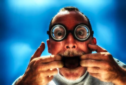 portrait me self glasses nikon bigmouth d200 hdr