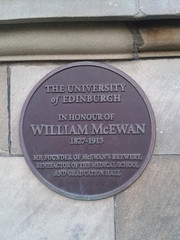 Photo of William McEwan bronze plaque