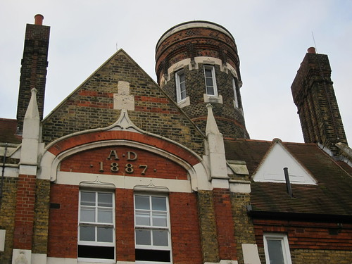 Woolwich Fire Station – five-storey, round tower on an octagonal base