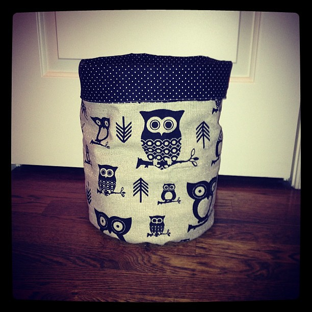 I'm starting to get addicted to these fabric buckets!
