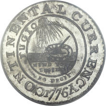 Pewter Continental dollar