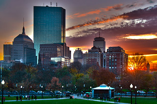 Boston November sunset